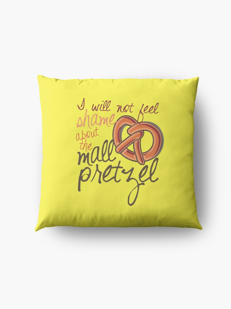 Alternate view of I will not feel shame about the mall pretzel! Floor Pillow