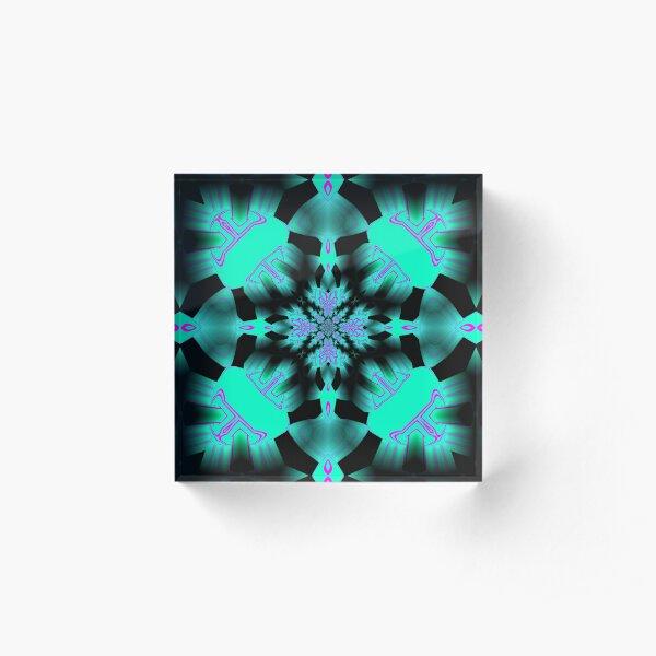 Neon Pattern v3  Acrylic Block