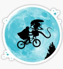 E.T. vs Aliens Sticker