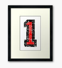 Number 1 One First Birthday 1st Design Framed Print
