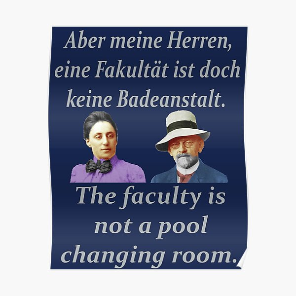 David Hilbert and Emmy Noether Poster