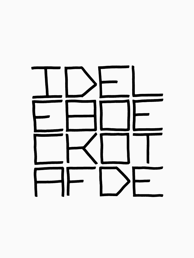 IDEL... (BLACK TEXT) by revaddotcom