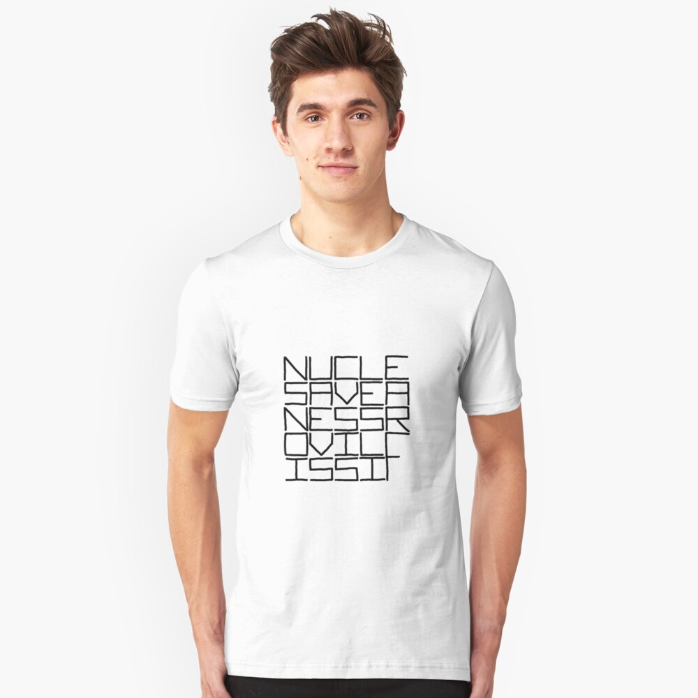 NUCLE... (BLACK TEXT) Slim Fit T-Shirt