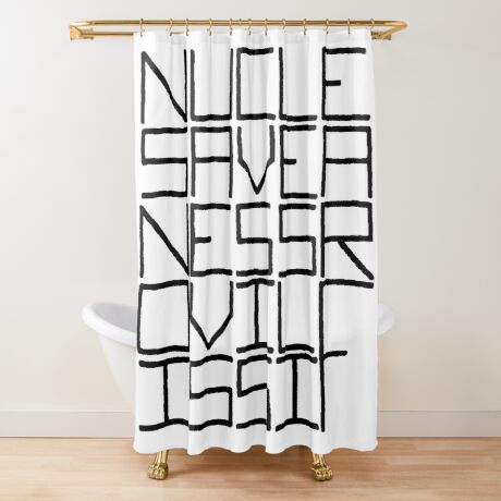 NUCLE... (BLACK TEXT) Shower Curtain