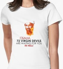 Osama is DEAD Virgins Women's Fitted T-Shirt