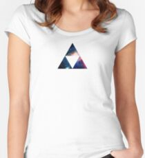 Galaxy Tri-Force Women's Fitted Scoop T-Shirt