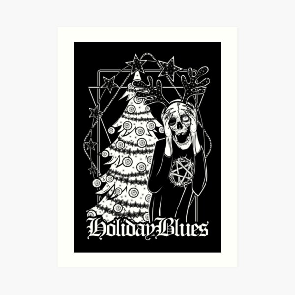 Terry the Ghoul has the Holiday Blues Art Print