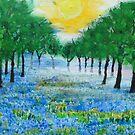 Misty Blue Meadow by George Hunter