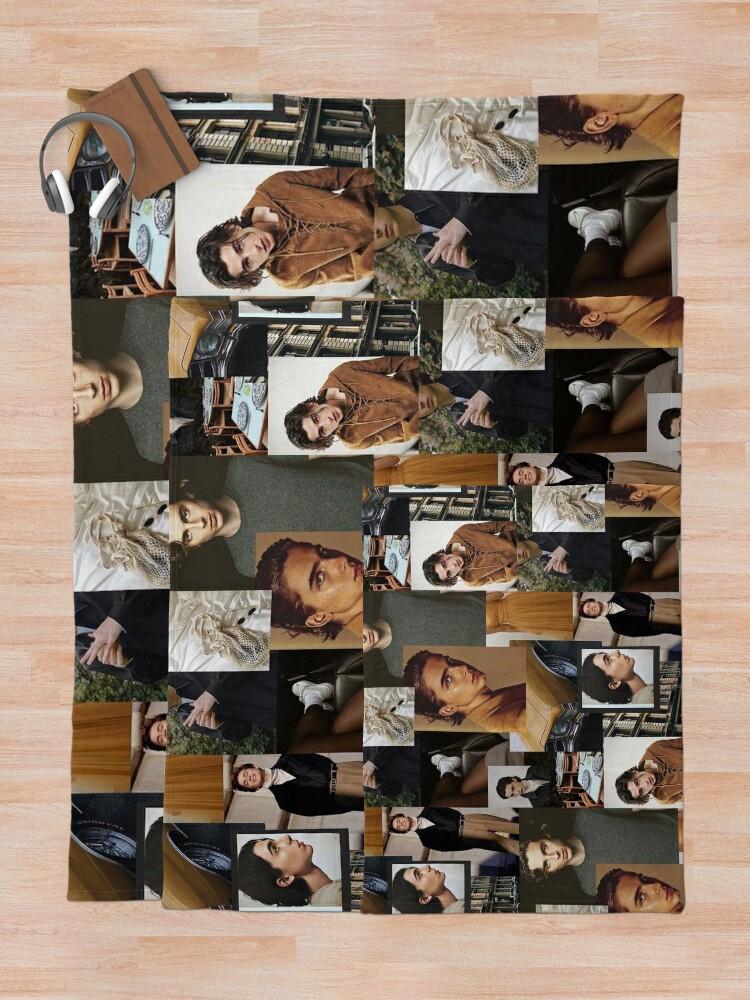 Alternate view of Timothee Chalamet: Collage Throw Blanket