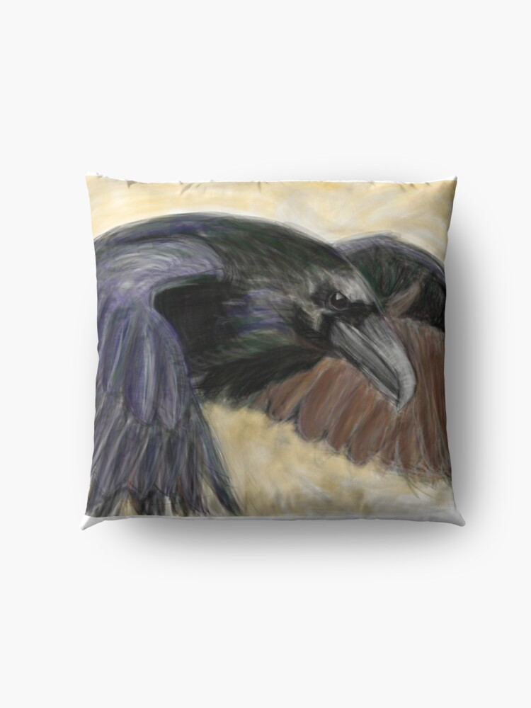 Alternate view of raven Floor Pillow