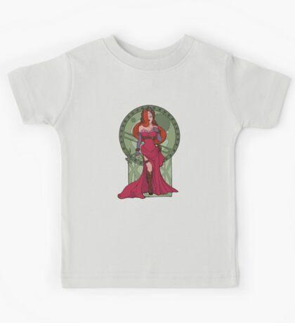 Steampunk Jessica Nouveau Digital T shirt Kids Clothes