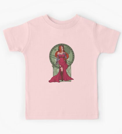 Steampunk Jessica Nouveau Digital T shirt Kids Clothes
