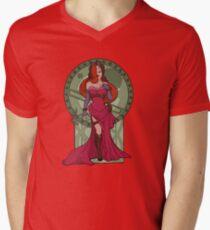 Steampunk Jessica Nouveau Digital T shirt Men's V-Neck T-Shirt