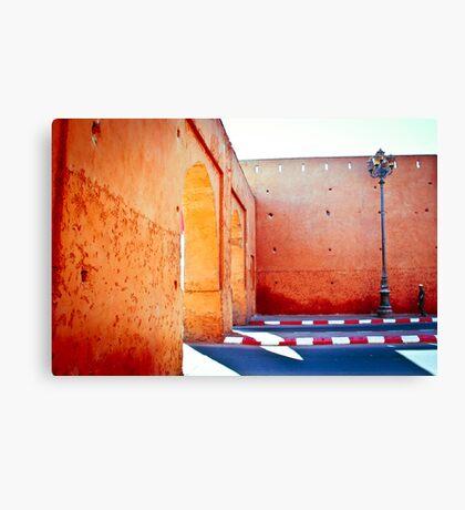 Murs rouges Canvas Print
