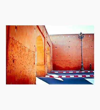 Murs rouges Photographic Print