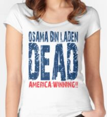 Osama is Dead - Light Women's Fitted Scoop T-Shirt
