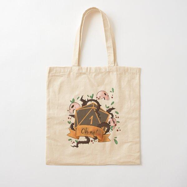 Critical Fail! D20 Natural One  Cotton Tote Bag