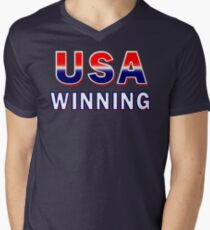 USA Winning Mens V-Neck T-Shirt