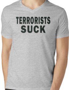 Terrorists Suck Mens V-Neck T-Shirt