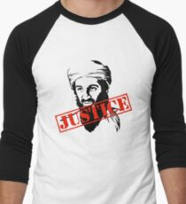 Osama Bin Laden Justice Men's Baseball ¾ T-Shirt