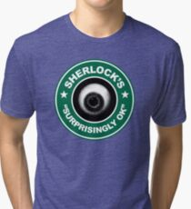 Sherlock's Coffee - Surprisingly OK! Tri-blend T-Shirt