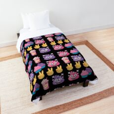 Cute Candy Poo Emoji JoyPixels So Yummy Comforter