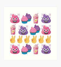 Cute Candy Poo Emoji JoyPixels So Yummy Art Print
