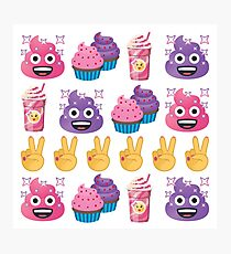 Cute Candy Poo Emoji JoyPixels So Yummy Photographic Print
