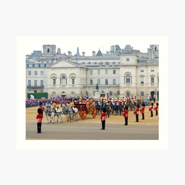 UK, England, London, Horse Guards Parade, Royal Wedding Art Print