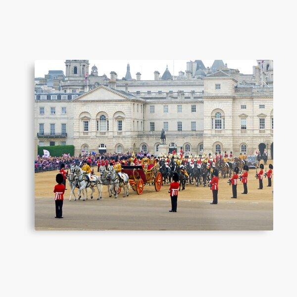 UK, England, London, Horse Guards Parade, Royal Wedding Metal Print