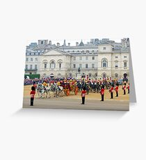 UK, England, London, Horse Guards Parade, Royal Wedding Greeting Card