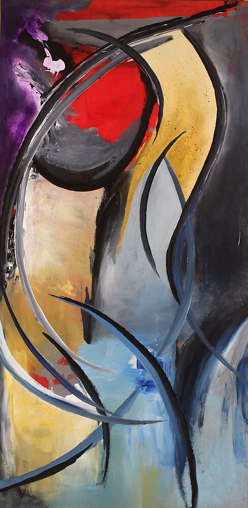 """Femme"" Original acrylic painting by Tree3332art"