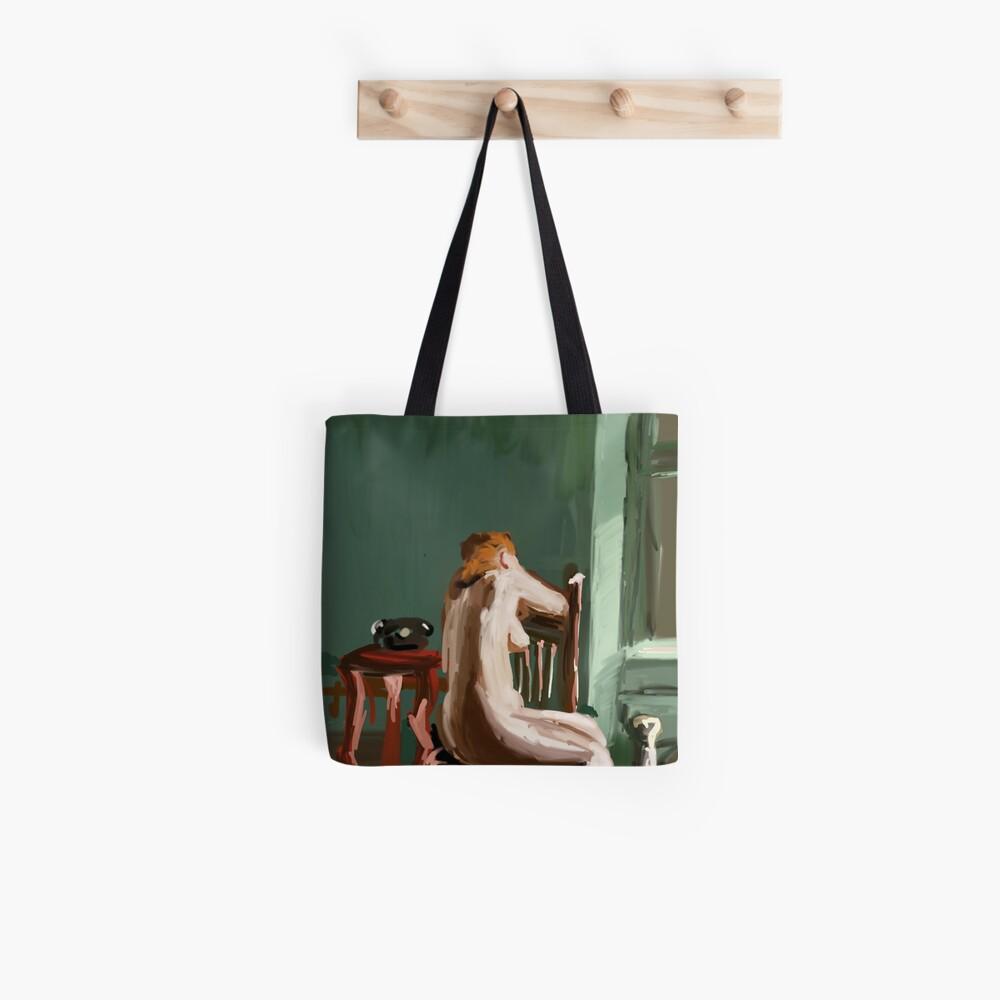 sad girl Tote Bag