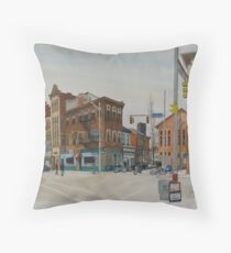 Carson Street & S.12th Street, South Side, Pittsburgh Throw Pillow