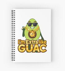 I'm Extra Like Guac Avocado Emoji JoyPixels Cool Avocado saying Spiral Notebook