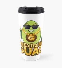 I'm Extra Like Guac Avocado Emoji JoyPixels Cool Avocado saying Travel Mug