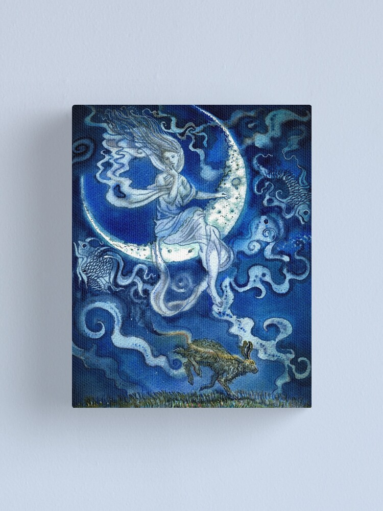 Alternate view of Blue moon. Canvas Print