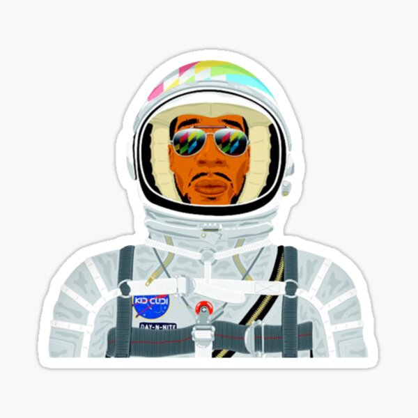 man on the moon Sticker