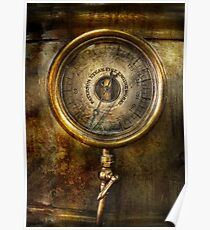 Steampunk - The pressure gauge Poster