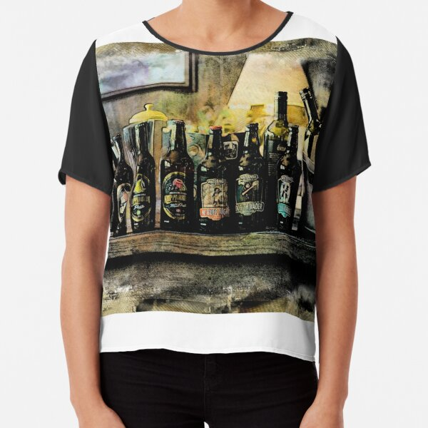 Country beer bottles Chiffon Top