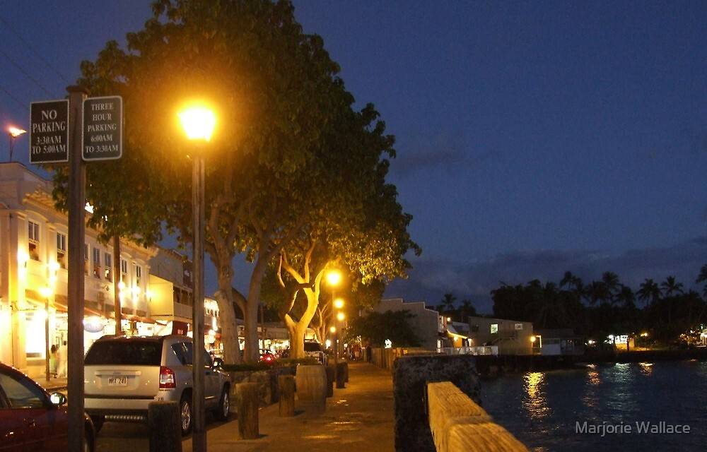 Lahaina at sundown by Marjorie Wallace