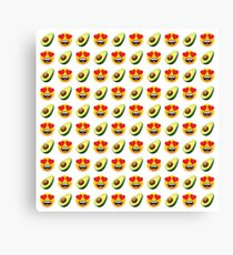 Love Avocado Emoji JoyPixels Funny Avocado Lover Canvas Print