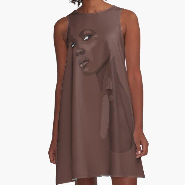 Fashion Portrait of beautiful African woman A-Line Dress