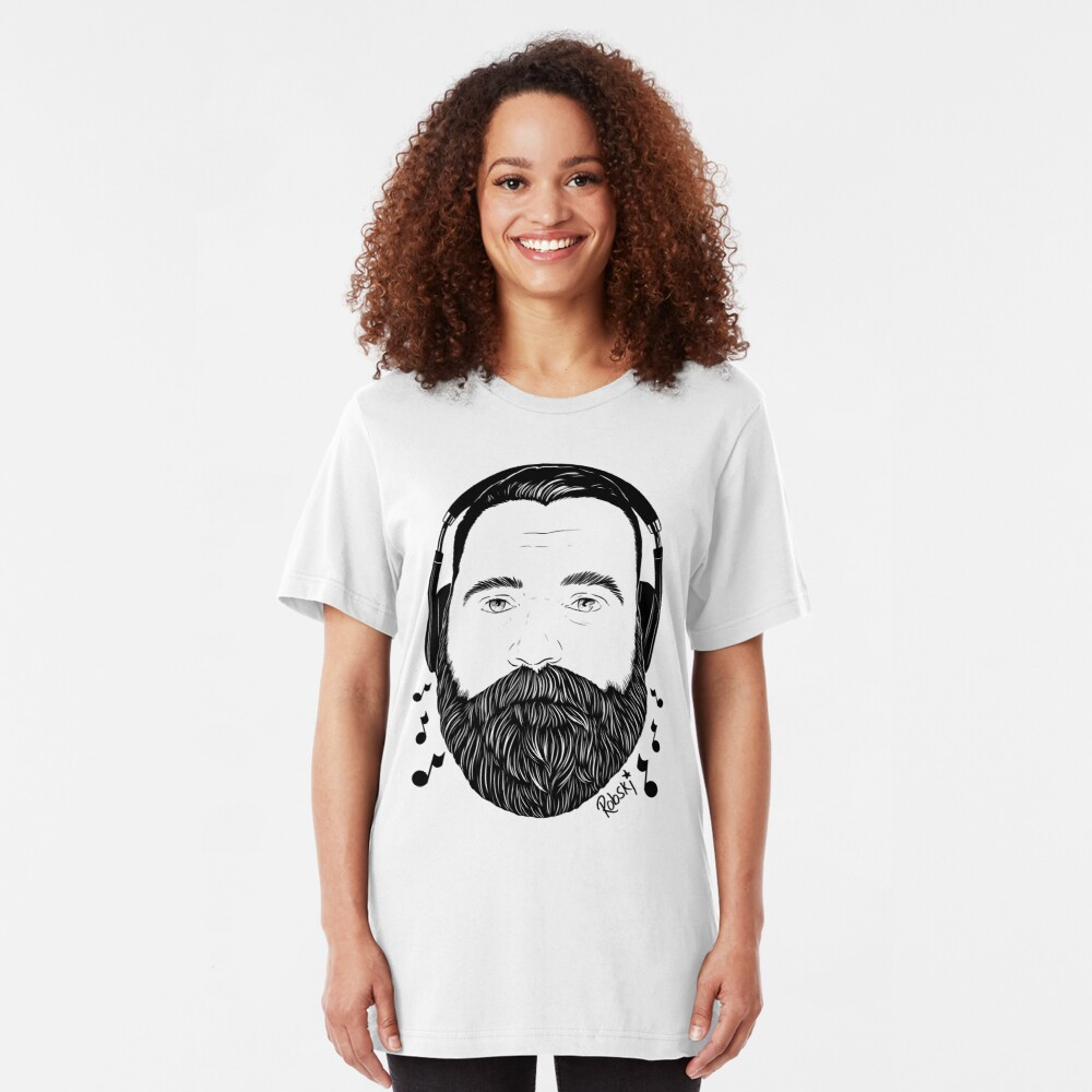 Music bear Rees light tee Slim Fit T-Shirt