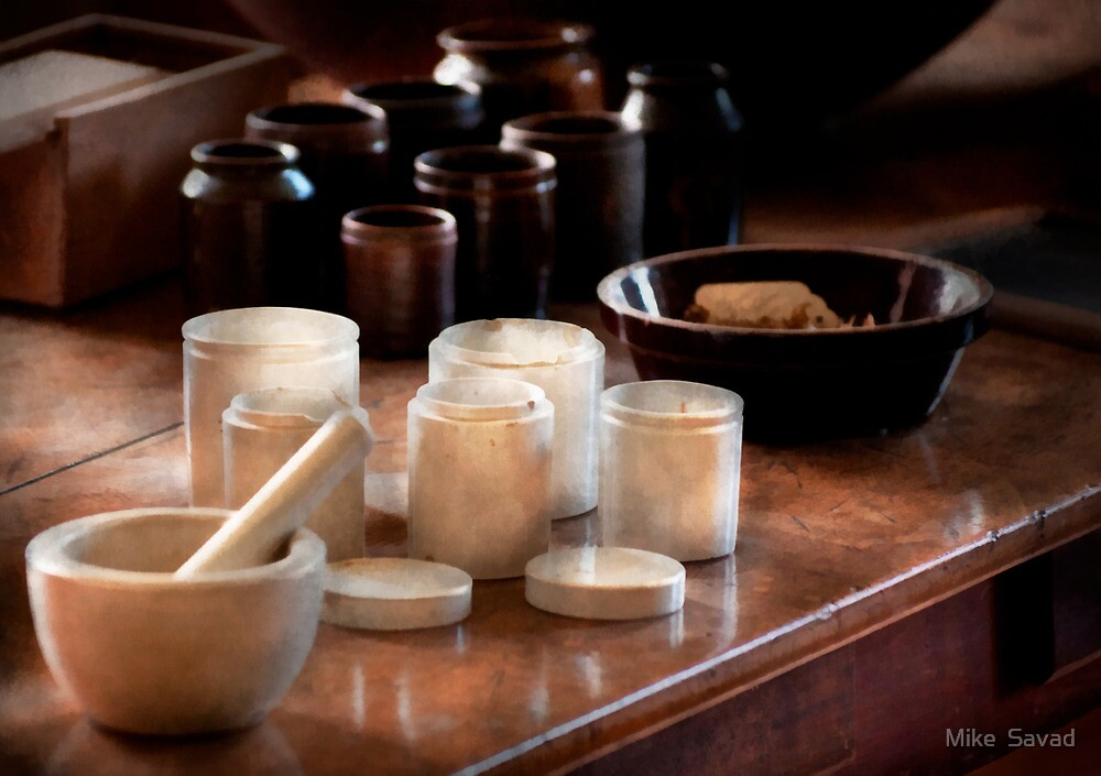 Pharmacist - Pestle and cups by Michael Savad