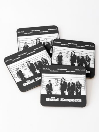 The Usual Poker Suspects Coasters