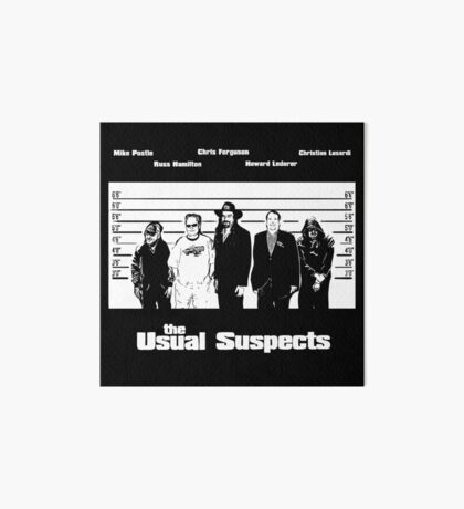 The Usual Poker Suspects Art Board Print