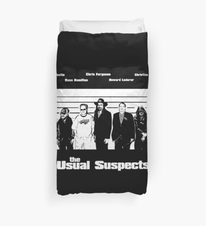 The Usual Poker Suspects Duvet Cover