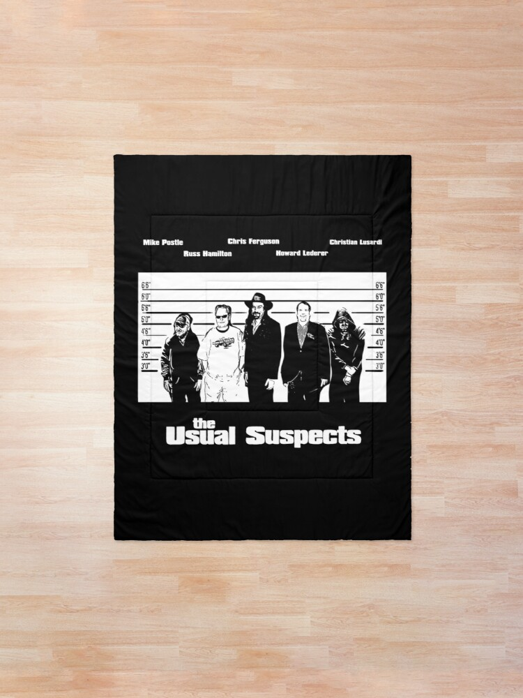 Alternate view of The Usual Poker Suspects Comforter