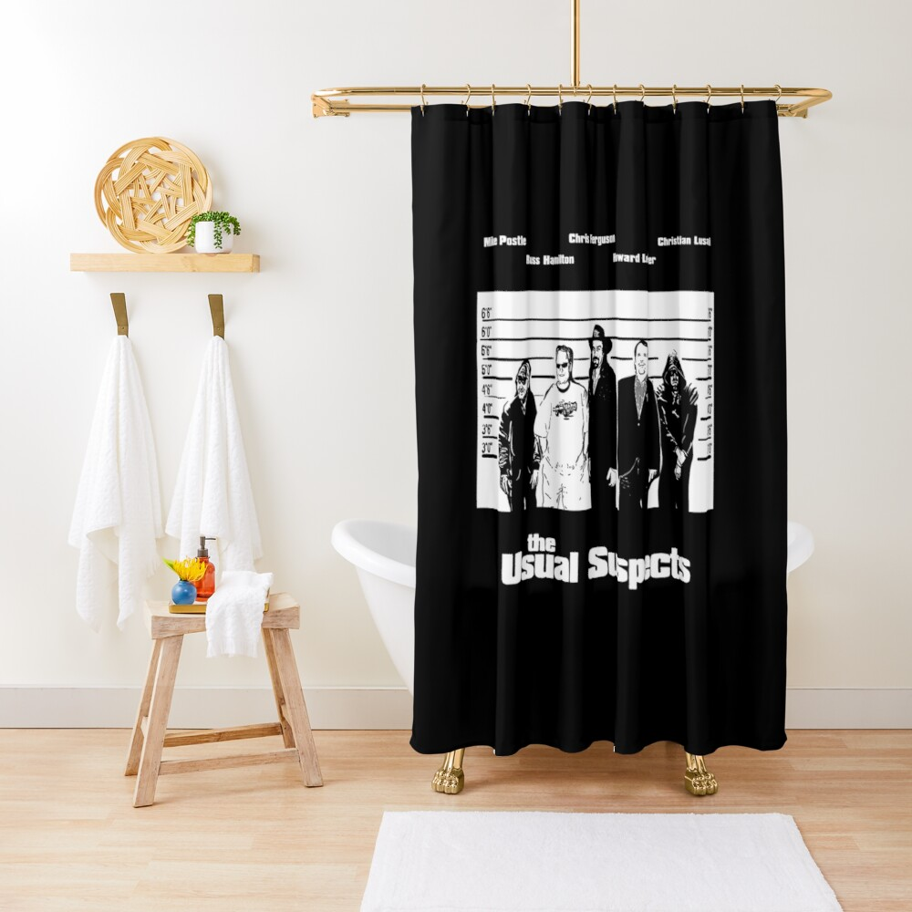 The Usual Poker Suspects Shower Curtain